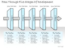 2502 Business Ppt Diagram Pass Through Five Stages Of Development Powerpoint Template