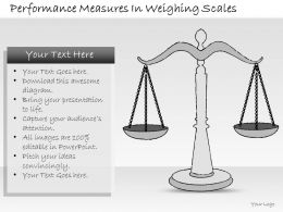 2502 Business Ppt Diagram Performance Measures In Weighing Scales Powerpoint Template