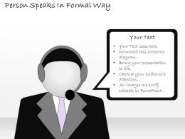 2502 Business Ppt Diagram Person Speaks In Formal Way Powerpoint Template