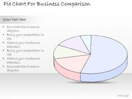 2502 Business Ppt Diagram Pie Chart For Business Comparison Powerpoint Template