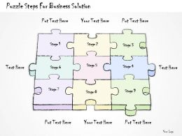 2502 Business Ppt Diagram Puzzle Steps For Business Solution Powerpoint Template