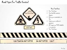 2502 Business Ppt Diagram Road Signs For Traffic Control Powerpoint Template