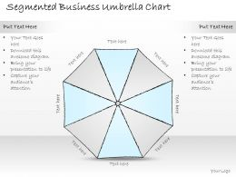 2502 Business Ppt Diagram Segmented Business Umbrella Chart Powerpoint Template