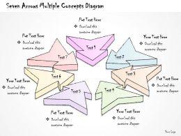2502 Business Ppt Diagram Seven Arrows Multilple Concepts Diagram Powerpoint Template