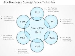 2502 Business Ppt Diagram Six Business Concept Venn Diagram Powerpoint Template