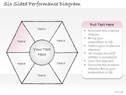 2502 Business Ppt Diagram Six Sided Performance Diagram Powerpoint Template