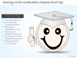 2502 Business Ppt Diagram Smiley With Graduation Degree And Cap Powerpoint Template