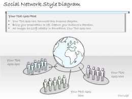 2502 Business Ppt Diagram Social Network Style Diagram Powerpoint Template
