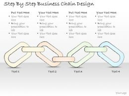 2502 Business Ppt Diagram Step By Step Business Chain Design Powerpoint Template