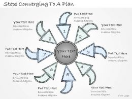 2502 Business Ppt Diagram Steps Converging To A Plan Powerpoint Template