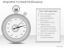 2502 Business Ppt Diagram Stopwatch To Check Performance Powerpoint Template