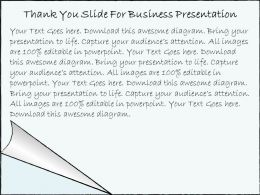 2502 Business Ppt Diagram Thank You Slide For Business Presentation Powerpoint Template