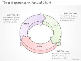 2502 Business Ppt Diagram Three Segments In Round Chart Powerpoint Template