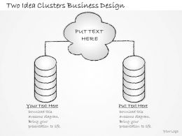 2502 Business Ppt Diagram Two Idea Clusters Business Design Powerpoint Template