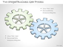 2502 Business Ppt Diagram Two Staged Business Gear Process Powerpoint Template