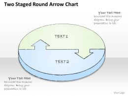 2502 Business Ppt Diagram Two Staged Round Arrow Chart Powerpoint Template
