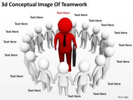 2513 3d Conceptual Image Of Teamwork Ppt Graphics Icons Powerpoint