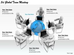 2513 3d Global Team Meeting Ppt Graphics Icons Powerpoint