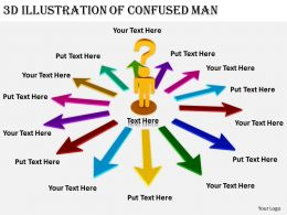 2513 3d Illustration Of Confused Man Ppt Graphics Icons Powerpoint