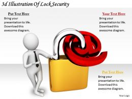 2513 3d Illustration Of Lock Security Ppt Graphics Icons Powerpoint