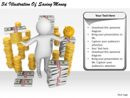 2513 3d Illustration Of Saving Money Ppt Graphics Icons Powerpoint