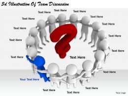 2513 3d Illustration Of Team Discussion Ppt Graphics Icons Powerpoint