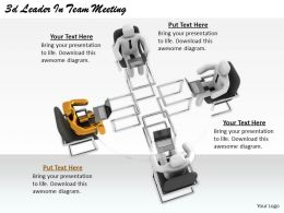 2513 3d Leader In Team Meeting Ppt Graphics Icons Powerpoint