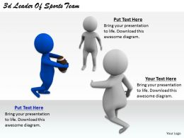 2513 3d Leader Of Sports Team Ppt Graphics Icons Powerpoint