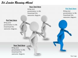 2513 3d Leader Running Ahead Ppt Graphics Icons Powerpoint