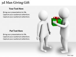2513 3d Man Giving Gift Ppt Graphics Icons Powerpoint