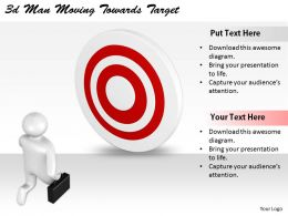 2513 3d Man Moving Towards Target Ppt Graphics Icons Powerpoint