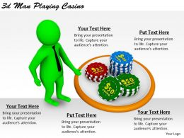 2513 3d Man Playing Casino Ppt Graphics Icons Powerpoint