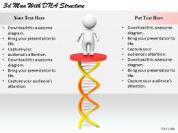 2513 3d Man With DNA Structure Ppt Graphics Icons Powerpoint