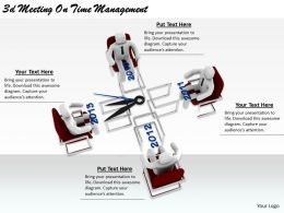 2513 3d Meeting On Time Management Ppt Graphics Icons Powerpoint