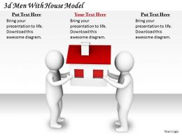 2513 3d Men With House Model Ppt Graphics Icons Powerpoint