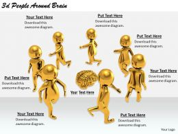 2513 3d People Around Brain Ppt Graphics Icons Powerpoint