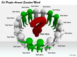 2513 3d People Around Question Mark Ppt Graphics Icons Powerpoint
