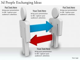 2513 3d People Exchanging Ideas Ppt Graphics Icons Powerpoint