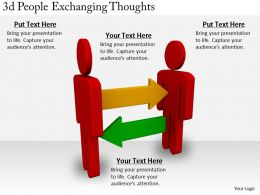 2513 3d People Exchanging Thoughts Ppt Graphics Icons Powerpoint