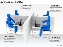 2513 3d People In An Office Ppt Graphics Icons Powerpoint