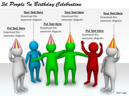 2513 3d People In Birthday Celebration Ppt Graphics Icons Powerpoint