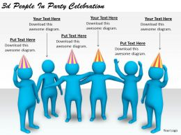 2513 3d People In Party Celebration Ppt Graphics Icons Powerpoint