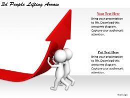 2513 3d People Lifting Arrow Ppt Graphics Icons Powerpoint