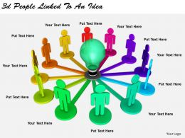 2513 3d People Linked To An Idea Ppt Graphics Icons Powerpoint