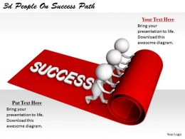 2513 3d People On Success Path Ppt Graphics Icons Powerpoint