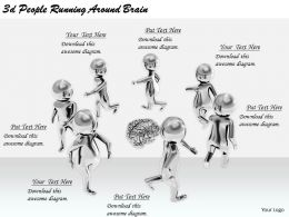 2513 3d People Running Around Brain Ppt Graphics Icons Powerpoint