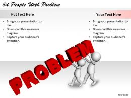 2513 3d People With Problem Ppt Graphics Icons Powerpoint