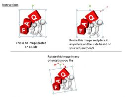 2513 3d Red Cubes Of FAQ Ppt Graphics Icons Powerpoint
