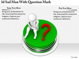 2513 3d Sad Man With Question Mark Ppt Graphics Icons Powerpoint