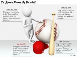 2513 3d Sports Person Of Baseball Ppt Graphics Icons Powerpoint